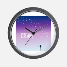 Dream Dandelion Wall Clock