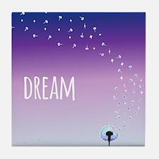 Dream Dandelion Tile Coaster