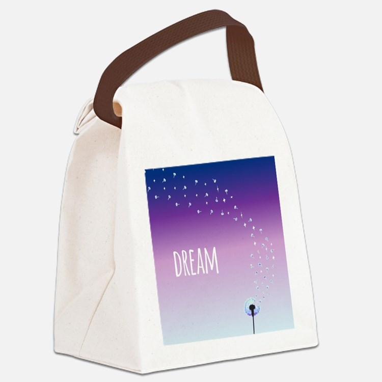 Dream Dandelion Canvas Lunch Bag