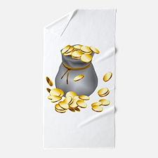 Bag of Gold Beach Towel