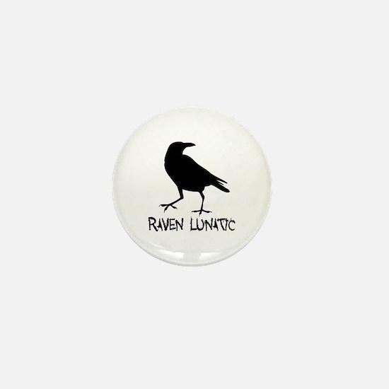Raven Lunatic - Halloween Mini Button (10 pack)