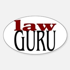 Law Guru Oval Decal