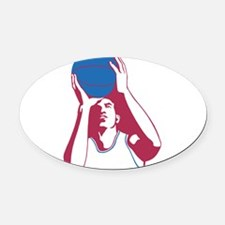 Basketball - Sports Oval Car Magnet