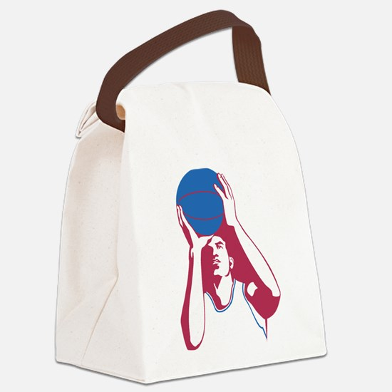 Basketball - Sports Canvas Lunch Bag
