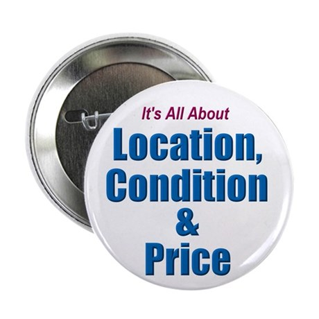 """Location, Condition and Price 2.25"""" Button (10 pac"""