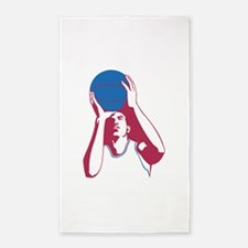 Basketball - Sports 3'x5' Area Rug