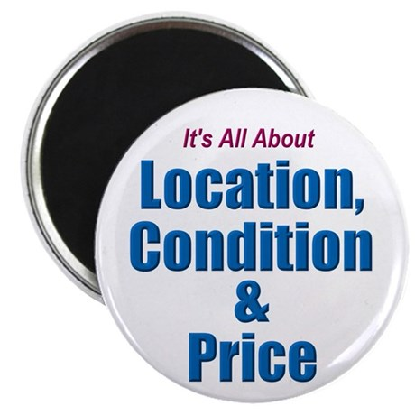 """Location, Condition and Price 2.25"""" Magnet (10 pac"""