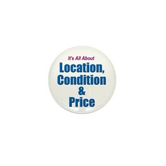 Location, Condition and Price Mini Button (10 pack