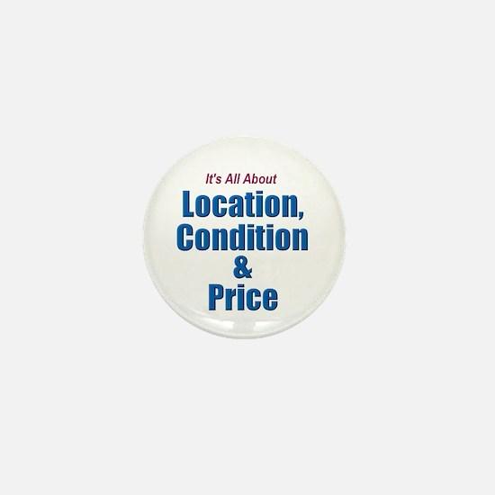Location, Condition and Price Mini Button