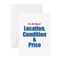 Location, Condition and Price Greeting Cards (Pack