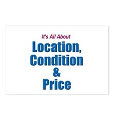 Location, Condition and Price Postcards (Package o