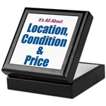 Location, Condition and Price Keepsake Box