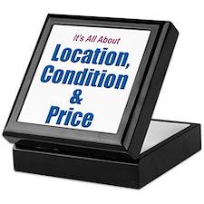 Location, Condition and Price Keepsake Box