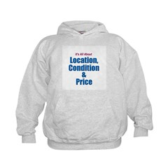 Location, Condition and Price Kids Hoodie