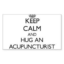 Keep Calm and Hug an Acupuncturist Decal