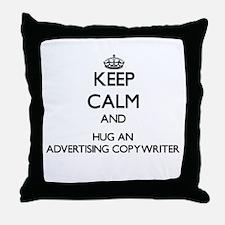 Keep Calm and Hug an Advertising Copywriter Throw