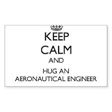 Keep Calm and Hug an Aeronautical Engineer Decal