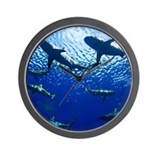 Sharks Underwater Wall Clock