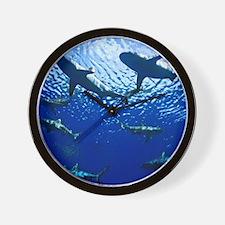 Sharks Underwater Wall Clock