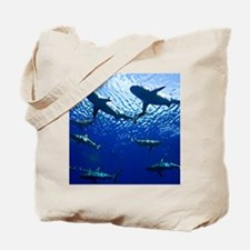 Sharks Underwater Tote Bag
