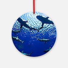Sharks Underwater Round Ornament