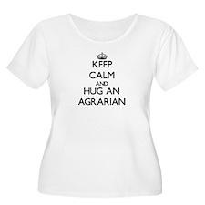 Keep Calm and Hug an Agrarian Plus Size T-Shirt