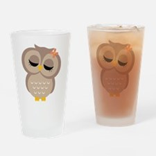 Single Girl Owl Drinking Glass