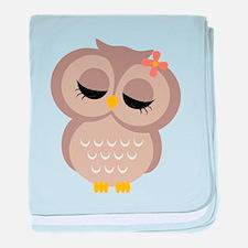 Single Girl Owl baby blanket