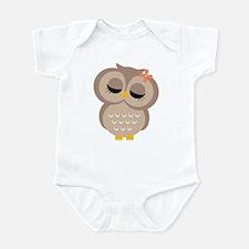 Single Girl Owl Infant Bodysuit