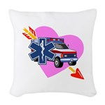 EMS Care Heart Woven Throw Pillow