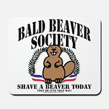 Bald Beaver Society Mousepad
