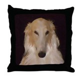 Borzoi paintings Throw Pillows