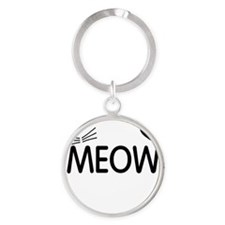 Meow Round Keychain