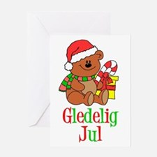 Gledelig Jul Norwegian Greeting Card