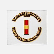 USMC - Warrant Officer - WO Throw Blanket