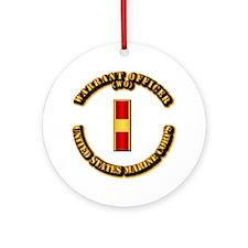 USMC - Warrant Officer - WO Ornament (Round)