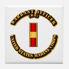 USMC - Warrant Officer - WO Tile Coaster