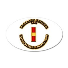 USMC - Warrant Officer - WO 20x12 Oval Wall Decal