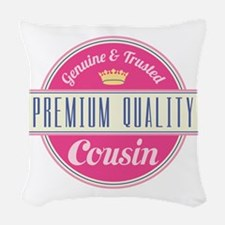 Premium Quality Cousin Woven Throw Pillow