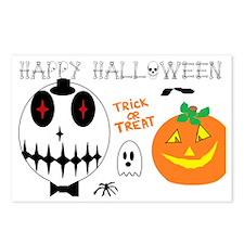 happy halloween skull  Postcards (Package of 8)