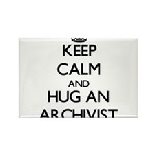 Keep Calm and Hug an Archivist Magnets