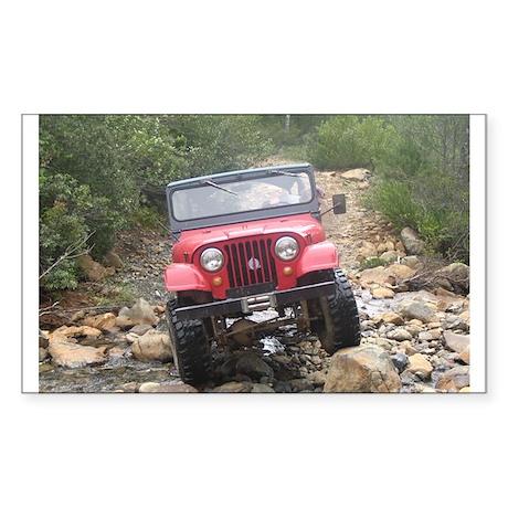 Jeep Rectangle Sticker