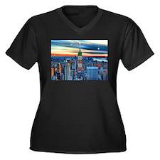 Empire Bldg NY Skyline Plus Size T-Shirt