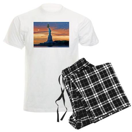 Statue of Liberty with Xmas Tree Pajamas