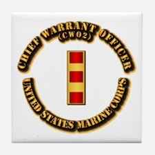 USMC - Chief Warrant Officer - CW2 Tile Coaster