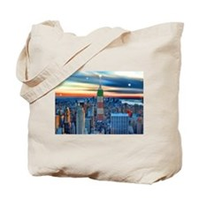 Empire Bldg NY Skyline Tote Bag