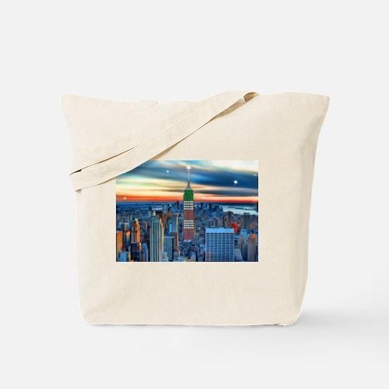 Empire Bldg NY Skyline Tote Bag