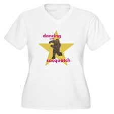 Dancing with Sasquatch Plus Size T-Shirt