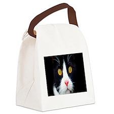 cat peace calm c Canvas Lunch Bag