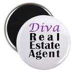 """Diva Real estate Agent 2.25"""" Magnet (10 pack)"""